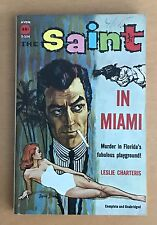 LESLIE CHARTERIS  THE SAINT IN MIAMI  AVON T-234  1940  PAPERBACK  C. 1960