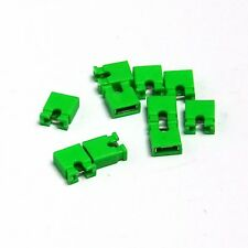 10 x 2.54mm Circuit Board Shunts Short Jumper Cap Mini Micro Header Green UK