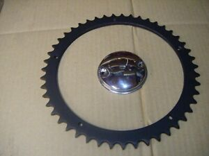 BSA Triumph Rear Wheel Sprocket, (Conical Hub) and New points Cover,