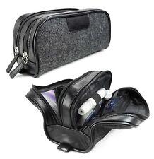 Tuff-Luv Personalised Herringbone Tweed & Leather Insulin /Travel /Toiletry case