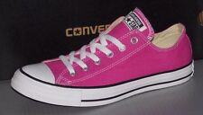 """CONVERSE """"CHUCK TAYLOR"""" CTAS OX CANVAS in colors PLASTIC PINK MENS 7 WOMENS 9"""