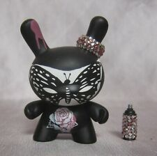 Lady Aiko Butterfly Dunny Fatale Series 2010 spray can pink jeweled ear ring art