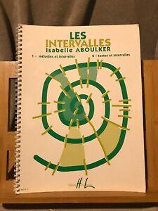 Isabelle Aboulker Les Intervalles méthode partition chant éditions Henry Lemoine