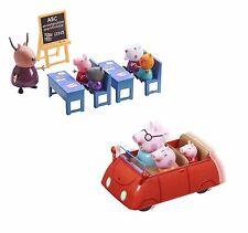 Peppa Pig Peppa's Push Car & Classroom Bundle Playset Toy Age 3+