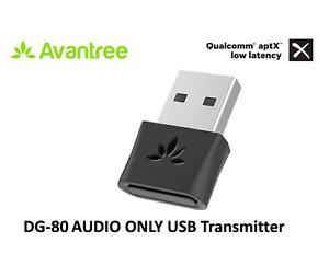 DG80 Bluetooth 5.0 USB Audio Transmitter, aptX-LL PC Mac Linux PS4 Plug & Play