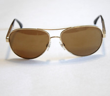 Chanel Sunglasses 4179 Gold Tone Aviator Mirror Arms 57mm