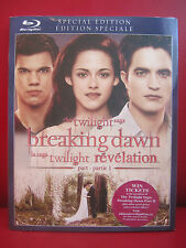 The Twilight Saga: Breaking Dawn - Part 1 (Blu-ray Disc, 2012, Canadian) special