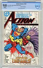 Action Comics  #587  CBCS  9.8  NMMT   White pgs  4/87 Demon cover & App.  Morga