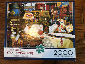 "The CATS of CHARLES WYSOCKI 2000 PIECE ""MAGGIE THE MESSMAKER"" -Buffalo Puzzle"