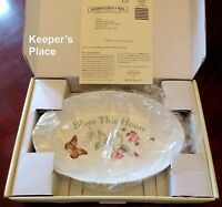 Lenox Butterfly Meadow BLESS THIS HOME Oval Serving Bowl Louise Le Luye New Box