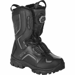 New Mens FLY Racing BOA Black, Hi-Viz Snowmobile Winter Snow Boots