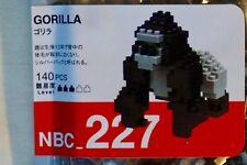 New KAWADA Nanoblock Japan 140 Pieces Micro-Sized Block Gorilla NBC-227