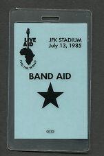 1985 Live Aid Concert Laminate Backstage Pass Philadelphia Madonna Dylan Jagger
