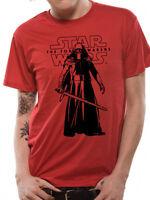 Star Wars The Force Awakens Kylo Ren T-Shirt IN Piedi Con Spada Laser