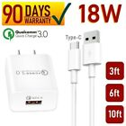 18W Port Wall Charger + Type-C USB Cable For Android Tablet, IPAD PRO 12.9 [Q3