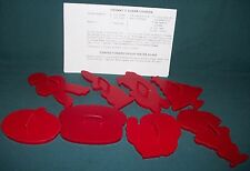 Tupperware set of 8 Holiday cookie cutters plus recipe sheet