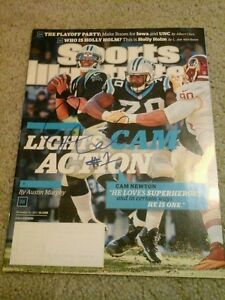 NFL CAM NEWTON AUTHENTIC SIGNED AUTOGRAPHED SPORTS ILLUSTRATED MAGAZINE PANTHERS