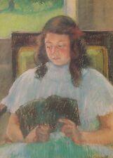Painting Portrait Art Postcard - Mary Cassatt, Young Girl Reading