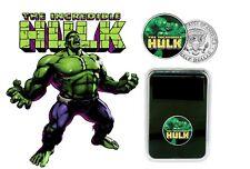 L'Incroyable Hulk-Marvel Super-héros colorisée JFK Kennedy Half Dollar Coin