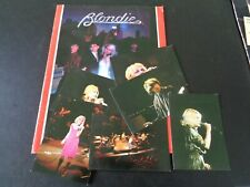 BLONDIE 1979 TOUR PROGRAMME AND SIX PHOTOGRAPHS