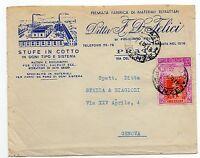 STORIA POSTALE 1951 REPUBBLICA TOSCANA L.20 SU BUSTA PRATO 7/4 D/8453
