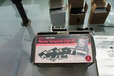 Sears Craftsman Router Template Sign Kit Model No.25174 Lot#877