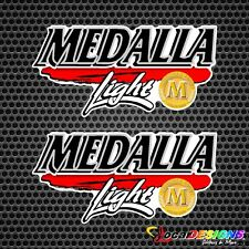 2x PUERTO RICO MEDALLA LIGHT BEER VINYL CAR STICKERS DECALS