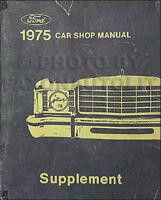 1988 Lincoln Maintenance Manual Town Car Mark VII Continental Jacking Towing