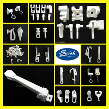 Swish curtain track parts FITTINGS Gliders End Stops Brackets Tensioner Hooks