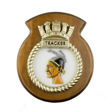 HMS TRACKER - SHIP BADGE / CREST / PLAQUE
