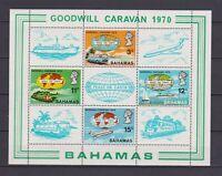 S16759) Bahamas MNH New 1970 Goodwill Caravan S/S