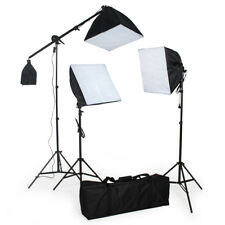 3x Illuminazione set studio foto lampada flash kit softbox stativo fotografia