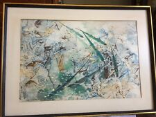 CHINESE ARTIST HSIAO YEN HSU PAINTING Of Lucky FISH WATERCOLOR SIGNED DATED
