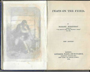 Antique book Feats on the Fiord by Harriet Martineau 1865