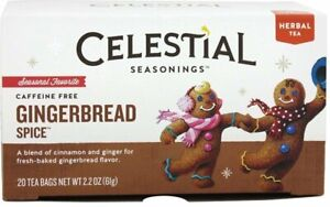 Gingerbread Spice Holiday Tea by Celestial Seasonings, Pack of 6