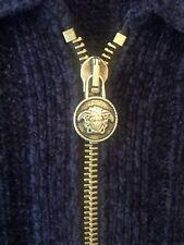 Versace Knitted Zip Zipper Top Jacket Coat With Medusa Head Zip