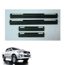 Door Sill Scuff Plate Black Trim 4 Pc For Toyota Hilux Vigo Champ 2011 - 2014