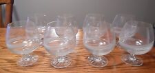 Vintage Galway Crystal Brandy Snifters Glasses Spindrift Pattern