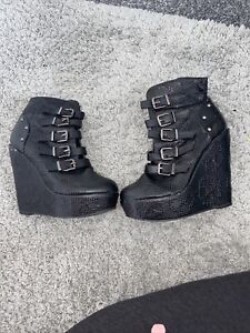 Discontinued Iron Fist Boots Goth Punk Boots Size 4