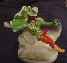 Herend Porcelain  Janos Vitez( Soldier Hussar ) on the Griff  Dragon