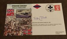 Great Britain FDC 1995 Operation Veritable 50th Anniversary World War Two Signed