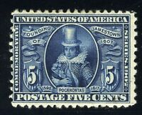 UNITED STATES SCOTT# 330 JAMESTOWN MINT HINGED AS SHOWN