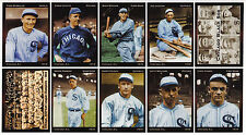 1919 Chicago Black Sox set of 9, Shoeless Joe Jackson, Cicotte, Weaver, etc