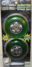 Skate Scooter Replacement Wheel Set - Liquid Metal Green