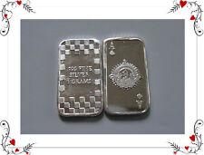 10 x Silberbarren Silber Silver Kartenspiel Poker Pik Ass  999 Selten !!!