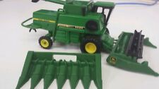 1/64 ERTL farm toy custom John deere 6620 titan 2 rwa combine with both heads.