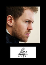 SEBASTIAN VETTEL #2 Signed Photo Print A5 Mounted Photo Print - FREE DELIVERY