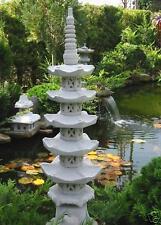 Pagode 5 stöckig japanische Steinlaterne Gartenteich #  #.