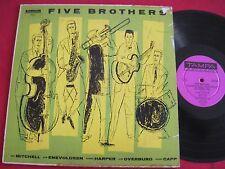 JAZZ LP - FIVE BROTHERS - MITCHELL/ENEVOLDSEN/HARPER/ OVERBURG/CAPP - TAMPA TP25