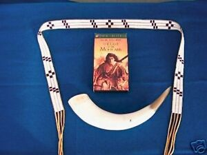 Last of the Mohicans Beaded Powder Horn Wampum Belt